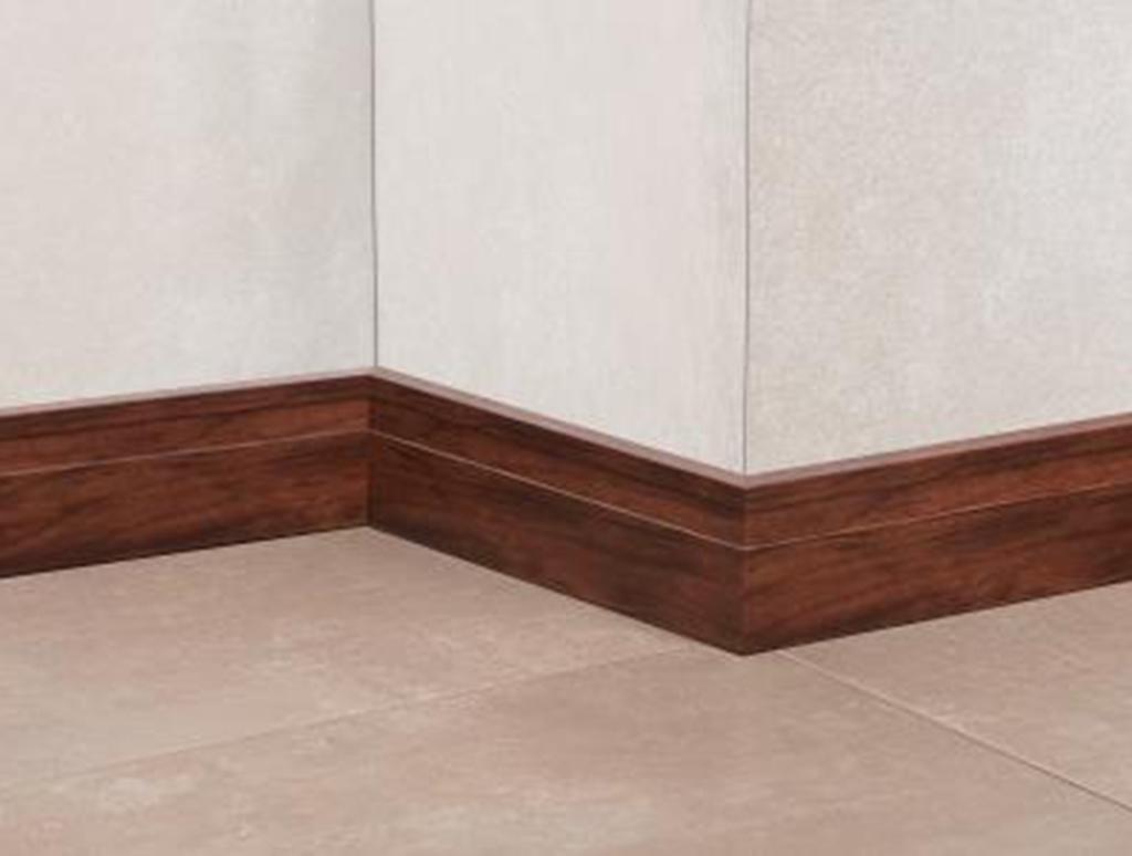 Novo rodap acabado madeira line cacau atrim realza - Esquineros para paredes ...